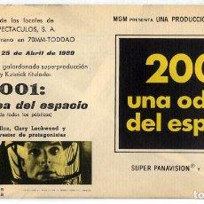 Cine: 2001 UNA ODISEA DEL ESPACIO 1968 (FOLLETO DE MANO ORIGINAL CON PUBLICIDAD DEL CINE VITORIANA). Lote 115364854