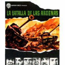 Cine: LA BATALLA DE LAS ARDENAS (FOLLETO DE MANO ORIGINAL SIN PUBLICIDAD). Lote 67662519