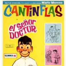 Cine: EL SEÑOR DOCTOR (FOLLETO DE MANO ORIGINAL SIN PUBLICIDAD) MARIO MORENO CANTINFLAS. Lote 62931196