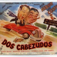 Cine: DOS CABEZUDOS, CON BUD ABBOTT Y LOU COSTELLO. S/I.. Lote 62953396