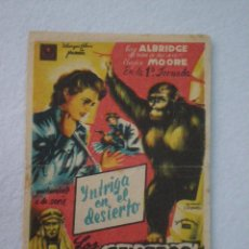 Cine: PELIGROS DE NYOKA (EN LA 1ª JORNADA) // PROGRAMA DE MANO PUBLICIDAD COLISEO 1948 // VINCENT PRICE. Lote 63094420