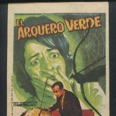Cine: PROGRAMA SOLIGO - EL ARQUERO VERDE KLAUSJÜRGEN WUSSOW, KARIN DOR, EDDI ARENT, HARRY WÜSTENHAGEN, . Lote 63155064