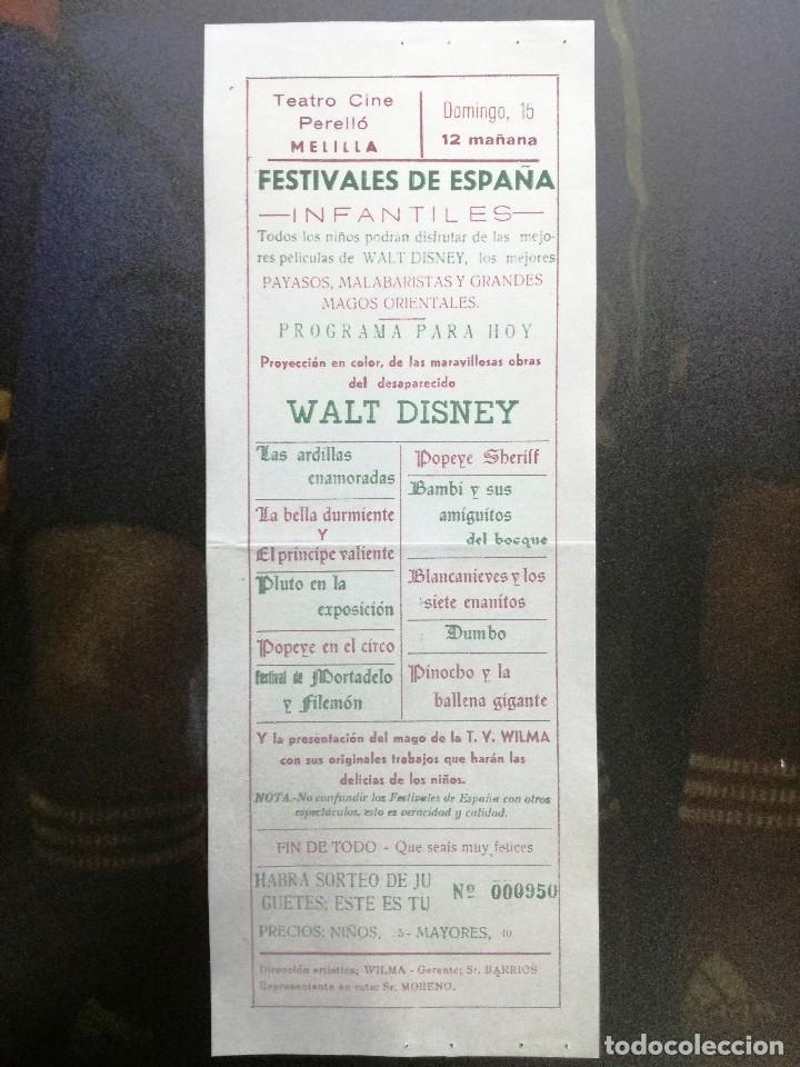 WALT DISNEY,POPEYE,DUMBO,LA BELLA DURMIENTE,,,TEATRO CINE (Cine - Folletos de Mano - Infantil)