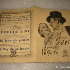 Cine: VUELVE A MI FRED ASTAIRE GINGER ROGERS FOLLETO . Lote 63908475