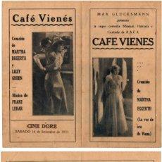Flyers Publicitaires de films Anciens: CAFÉ VIENES ,ES WAR EINMAL EIN WALTZER,ONCE (THERE WAS A WALTZ ), 1932. Lote 29347629
