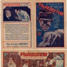 Cine: FRANKENSTEIN , (FRANKENSTEIN ) ,BORIS KARLOFF,MAE CLARKE, 1931. Lote 29349398