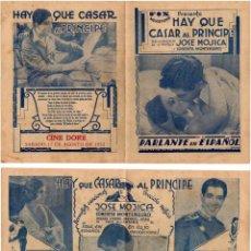 Cine: HAY QUE CASAR AL PRINCIPE,JOSE MOJICA, 1931. Lote 29350134