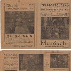 Flyers Publicitaires de films Anciens: METROPOLIS , FRITZ LANG, 1927. Lote 29353585