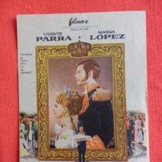 Cine: DONDE VAS TRISTE DE TI, IMPECABLE SENCILLO, VICENTE PARRA MARGA LÓPEZ, CON PUBLICIDAD MONTERROSA. Lote 64040951