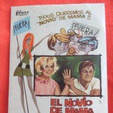 Foglietti di film di film antichi di cinema: EL NOVIO DE MAMA, IMPECABLE SENCILLO, DORIS DAY BRIAN KEITH, CON PUBLI CAPITOL 1969. Lote 64042563