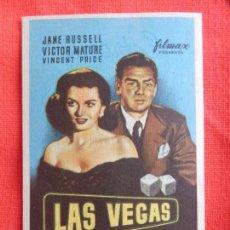 Cine: LAS VEGAS, IMPECABLE SENCILLO, JANE RUSSELL VICTOR MATURE, CON PUBLI MONTERROSA. Lote 64043211