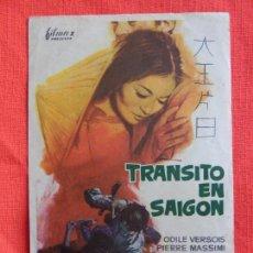 Cine: TRANSITO EN SAIGON, SENCILLO ORIGINAL, ODILE VERSOIS PIERRE MASSIMI, SIN PUBLICIDAD. Lote 64046415