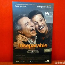Cine: INSEPARABLE - PROGRAMA DE MANO INTERNACIONAL - OSCAR MARTINEZ RODRIGO DE LA SERNA. Lote 64364575