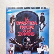 Cine: POSTAL ORIGINAL 10*15 - LA DIVERTIDA NOCHE DE LOS ZOMBIS - ZOMBIES - TERROR - GORE - YO AMO EL CINE. Lote 288735333