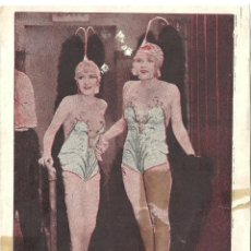 Cine: BROADWAY MELODY / LA MELODIA DE BROADWAY PROGRAMA TARJETA MGM ANITA PAGE BESSIE LOVE A. Lote 64538031