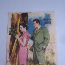 Foglietti di film di film antichi di cinema: LA COLINA DEL ADIOS FOLLETO DE MANO ORIGINAL ESTRENO . Lote 64589987