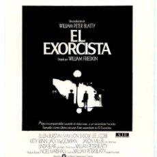 Flyers Publicitaires de films Anciens: EL EXORCISTA (FOLLETO PROGRAMA DE MANO ORIGINAL DE SU ESTRENO EN 1975 SIN PUBLICIDAD) . Lote 64625107
