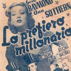 Cine: LO PREFIERO MILLONARIO - SALÓN IDEAL. Lote 64656423