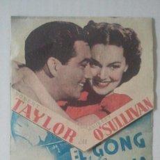 Folhetos de mão de filmes antigos de cinema: CINE - FOLLETO O PROGRAMA DE MANO - EL GONG DE LA VICTORIA - TROQUELADO MGM - BALEAR. Lote 64748735