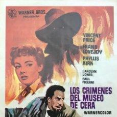 Cine: LOS CRIMENES DEL MUSEO DE CERA- VINCENT PRICE- CINE MONTERREY, CALLE CASTILLEJOS 429, BARCELONA. Lote 64885051