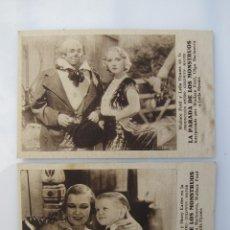 Folhetos de mão de filmes antigos de cinema: LOTE DE DOS PROGRAMAS DE LA PARADA DE LOS MONSTRUOS. Lote 65813950