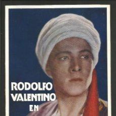Cine: EL HIJO DEL CAID -RODOLFO VALENTINO-LETRAS EN RELIEVE- VER REVERSO-MIDE 14X19CM- (C-3021). Lote 65943418