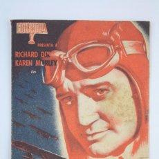 Cine: PROGRAMA DE CINE DOBLE - LA ESCUADRILLA INFERNAL - RICHARD DIX - COLUMBIA - AÑO 1939 / VICTORIA. Lote 66208674