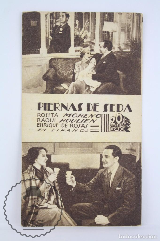 PROGRAMA DE CINE / TARJETA FOTOGRAMA - PIERNAS DE SEDA - 20TH CENTURY FOX - AÑO 1936 (Cine - Folletos de Mano - Comedia)