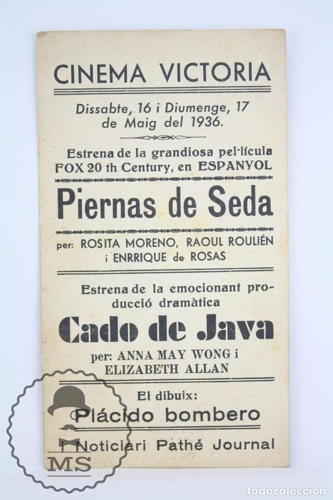 Cine: Programa de Cine / Tarjeta Fotograma - Piernas de Seda - 20th Century Fox - Año 1936 - Foto 2 - 66212286