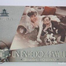 Cine: PROGRAMA DE CINE DOBLE - UN ENREDO DE FAMILIA - CIFESA - AÑO 1943. Lote 66216190