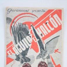 Cine: PROGRAMA DE CINE DOBLE - EL ÁGUILA Y EL HALCÓN - CARY GRANT / CAROLE LOMBARD - PARAMOUNT - AÑO 1934. Lote 66219958
