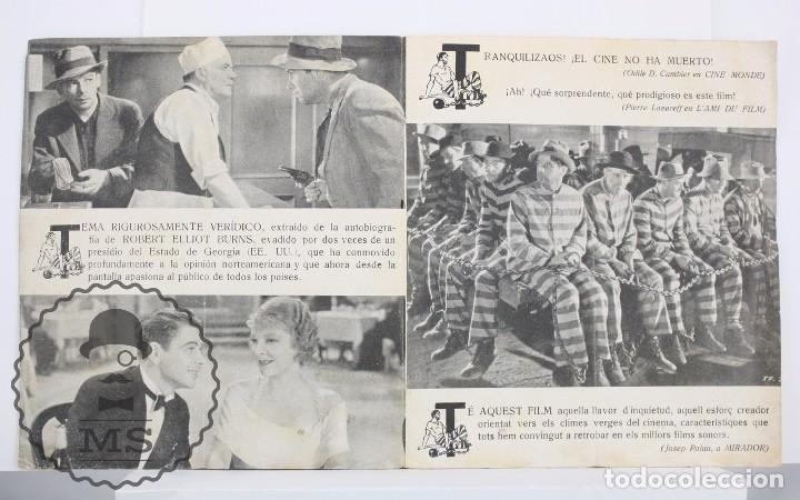 Cine: Programa de Cine Doble - Soy un Fugitivo - Paul Muni - Warner Bros / First National - Año 1933 - Foto 2 - 66220198