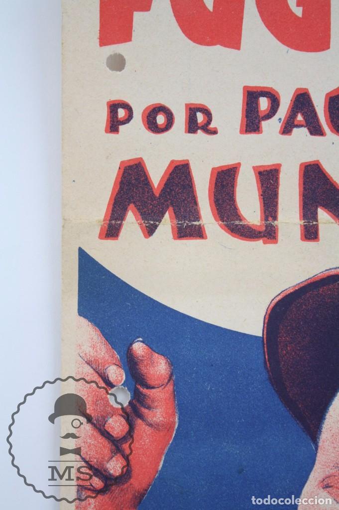 Cine: Programa de Cine Grande / Cartel - Soy Un Fugitivo - Paul Muni - First National - Año 1933 - Foto 2 - 66226950