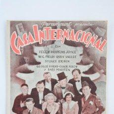 Cine: PROGRAMA DE CINE DOBLE - CASA INTERNACIONAL - PARAMOUNT - AÑO 1935. Lote 66229326
