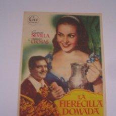 Flyers Publicitaires de films Anciens: LA FIERECILLA DOMADA CARMEN SEVILLA FOLLETO DE MANO ORIGINAL ESTRENO PERFECTO ESTADO. Lote 105664247