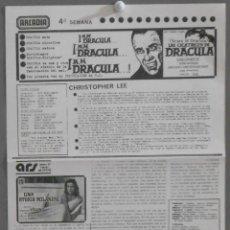 Cine: LAS CICATRICES DE DRACULA PROGRAMA LOCAL HAMMER CHRISTOPHER LEE. Lote 66440278