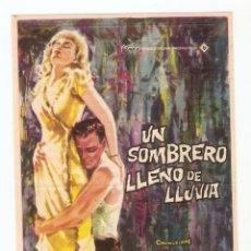 Cine: UN SOMBRERO LLENO DE LLUVIA - EVA MARIE SAINT, DON MURRAY, ANTHONY FRANCIOSA, LLOYD NOLAN - JANO. Lote 67228161