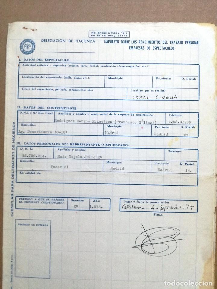 Cine: LA MUCHACHA SIN RETORNO.COMPAÑIA ROCIO DURCAL.FOLLETO CONTRATO Y SALARIOS DE LA COMPAÑIA - Foto 6 - 67254057