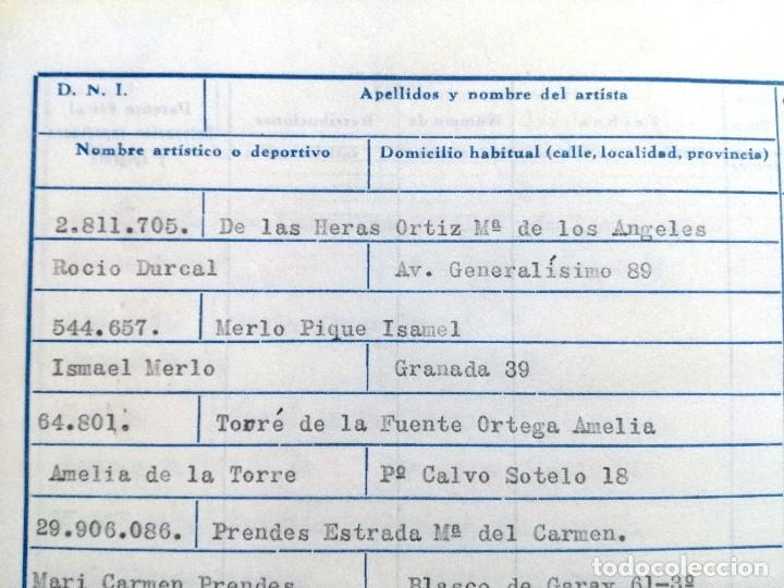 Cine: LA MUCHACHA SIN RETORNO.COMPAÑIA ROCIO DURCAL.FOLLETO CONTRATO Y SALARIOS DE LA COMPAÑIA - Foto 7 - 67254057