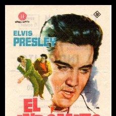 Flyers Publicitaires de films Anciens: FOLLETO DE MANO, EL INDOMITO, ELVIS PRESLEY.. Lote 67339653
