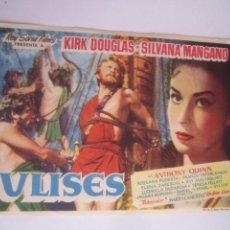 Folhetos de mão de filmes antigos de cinema: ULISES KIRK DOUGLAS SILVANA MANGANO ODISEA HOMERO MARIO BAVA FOLLETO DE MANO ORIGINAL ESTRENO. Lote 67399717