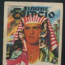 Cine: PROGRAMA SOLIGO - SINUHE EL EGIPCIO (JEAN SIMMONS - VICTOR MATURE - EDMUND PURDOM - GENE TIERNEY). Lote 72441254