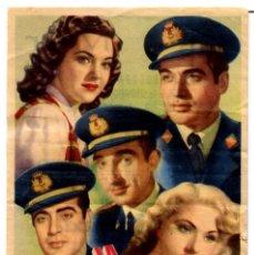Folhetos de mão de filmes antigos de cinema: LA TRINCA DEL AIRE (FOLLETO DE MANO ORIGINAL CON PUBLICIDAD CINE MAR) JORGE MISTRAL. Lote 92091078