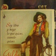 Cine: ANTIGUO FOLLETO PROGRAMA ELCHE GILDA DE PEQUEÑO FORMATO, RITA HAYWORTH, 1946. Lote 67758701