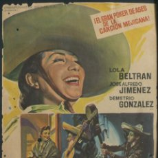 Cine: PROGRAMA SOLIGÓ - GUITARRAS DE MEDIANOCHE LOLA BELTRAN JOSE ALFREDO JIMENEZ DEMETRIO CON PUBLICIDAD. Lote 67758793