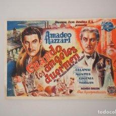 Cine: PROGRAMA DE MANO CINE CAMPANET CUANDO LOS ANGELES DUERMEN, AMADEO NAZZARI. Lote 67955021