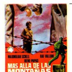 Cine: MAS ALLA DE LAS MONTAÑAS (FOLLETO DE MANO ORIGINAL CON PUBLICIDAD CINE SALUD) . Lote 67955737