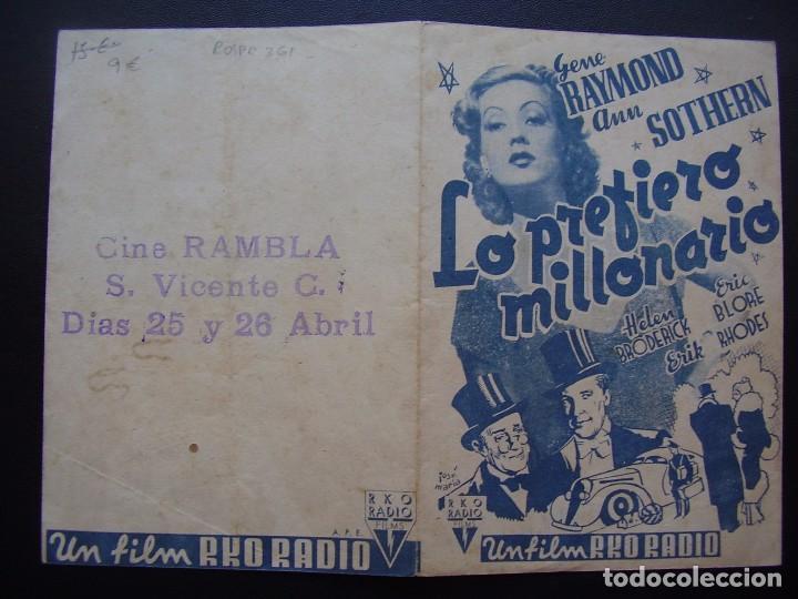 Cine: LO PREFIERO MILLONARIO, GENE RAYMOND, ANN SOTHERN, CINE RAMBLA - Foto 2 - 67973745