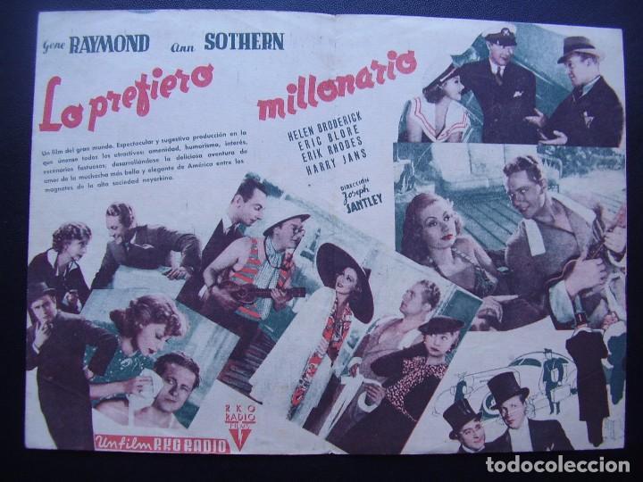 Cine: LO PREFIERO MILLONARIO, GENE RAYMOND, ANN SOTHERN, CINE RAMBLA - Foto 3 - 67973745