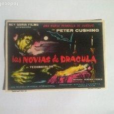Cine: LAS NOVIAS DE DRACULA - FOLLETO DE MANO. Lote 68557733